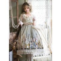 Lolita / soft girl / dress Cherry Bomb  If grass long, if grass short, dark green long, dark green short L,M,S,XL,XS Spring and Autumn goods in stock Classic, Lolita