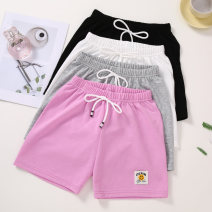 trousers Jump home neutral 110cm 120cm 130cm 140cm 150cm 160cm summer shorts motion There are models in the real shooting Sports pants Leather belt middle-waisted cotton Don't open the crotch Cotton 100% YT6201 Class B Summer 2021 Chinese Mainland Zhejiang Province Jinhua City
