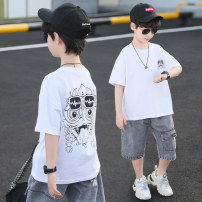T-shirt Star fun male summer Short sleeve Crew neck leisure time There are models in the real shooting nothing other Cartoon animation Other 100% D213132 Sweat absorption 3, 4, 5, 6, 7, 8, 9, 10, 11, 12, 13, 14, 14 and above Chinese Mainland Zhejiang Province Huzhou City easy White, black, orange