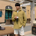 Sweater Youth fashion Mrcyc Yellow, black M. L, XL, 2XL, reference: model height 177 weight 124 try on L Solid color Socket routine Lapel autumn easy leisure time teenagers tide Closing sleeve Fleece  Cotton 100% cotton other other More than 95% Mingji thread patch bag