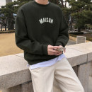 Sweater Youth fashion Mrcyc Army green, grey M. L, XL, 2XL, reference: model height 177 weight 120 try on L Geometric pattern Socket routine Crew neck autumn easy leisure time teenagers tide Off shoulder sleeve Fleece  Cotton 100% cotton printing other More than 95%