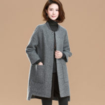 Women's large Autumn 2020 Gray, black Large XL, large XXL, large L, M Jacket / jacket singleton  commute easy thick Cardigan Nine point sleeve Solid color Korean version other Medium length Three dimensional cutting Mo Mo in September 81% (inclusive) - 90% (inclusive)