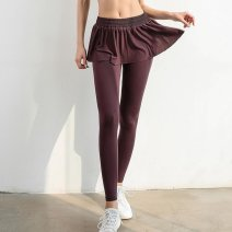 Fitness pants S,M,L female Grey, black, bean paste See description Other / other See description Yoga, fitness equipment Quick drying, breathable, super elastic Ninth pants High waist Tight trousers Summer 2020 nylon