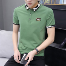 T-shirt Fashion City 227 green 227 white 227 black routine M L XL 2XL 3XL Juexi Short sleeve Lapel Self cultivation Other leisure summer 227-1 Cotton 95% polyurethane elastic fiber (spandex) 5% youth routine tide Summer 2020 Embroidered logo Fashion brand Pure e-commerce (online only)