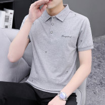 T-shirt other routine M L XL 2XL 3XL Juexi Short sleeve Lapel Self cultivation Other leisure summer Cotton 95% polyurethane elastic fiber (spandex) 5% youth routine tide Spring 2021 other Embroidered logo other Fashion brand Pure e-commerce (online only)