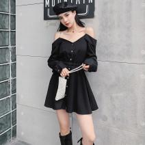 Women's large Autumn of 2019 black L [100-120 Jin], XL [120-135 Jin], XXL [135-150 Jin], 3XL [150-165 Jin], 4XL [165-180 Jin]
