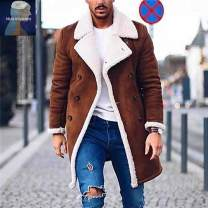 Jacket Other / other other ordinary Syncytial type Other leisure See details Long sleeves Wear out Lapel Regular sleeve Solid color Color contrast Bag digging with open cut thread