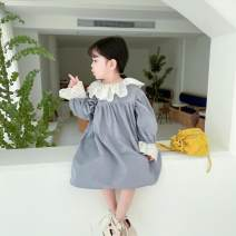 Dress Spring 2021 Blue, pink 80 (for 70cm-75cm), 90 (for 80cm-85cm), 100 (for 90cm-95cm), 110 (for 100cm-105cm), 120 (for 110cm-115cm), 130 (for 120cm-125cm) Princess Dress Under 17 Other / other 81% (inclusive) - 90% (inclusive) cotton