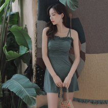 one piece  DUDU&MUMU Female m (recommended 80-100kg) female L (recommended 100-112kg) female XL (recommended 112-125kg) Green red Skirt one piece With chest pad without steel support Spandex polyester others HMN2060YC Autumn of 2019 female Sleeveless