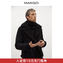 Jacket MANGO Fashion City black 180/96A/S 180/100A/M 185/104A/L 190/108A/XL Plush and thicken Self cultivation Other leisure Polyester 92% polyurethane elastic fiber (spandex) 8% Long sleeves Wear out Lapel youth routine Spring 2021 Same model in shopping mall (sold online and offline)