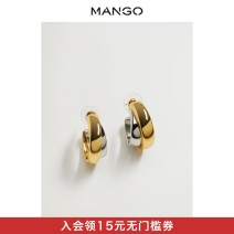 Earrings zinc 101-200 yuan MANGO golden Spring 2021 yes Same model in shopping mall (sold online and offline)