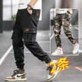 Casual pants Gebotoo / geboto Youth fashion Black Camouflage Army green card + camouflage black + army green card + Camouflage Army Green + Camouflage Army Green + official flagship store of UNIQLO Hailan home M L XL 2XL 3XL 4XL routine Ninth pants Other leisure Self cultivation Micro bomb teenagers
