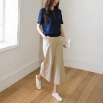 Wool knitwear Spring 2020 S M L XL Black white royal blue rose powder Short sleeve singleton  Socket other More than 95% Regular Thin money commute easy Polo collar routine Solid color Socket Korean version ST1355 18-24 years old Little girl Other 100% Pure e-commerce (online only)