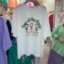 T-shirt Average size Summer 2021 Short sleeve Crew neck Straight cylinder Regular routine Sweet cotton 31% (inclusive) - 50% (inclusive) 18-24 years old Cartoon animation Yarol