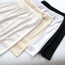 skirt Summer of 2019 One size fits all, short-s (40cm), short-m (41cm), short-l (42cm), short XL (43cm)% ^, Medium-s (50cm), medium-m (51cm), medium XL (53cm) White, apricot, black, milk white Short skirt Versatile Natural waist other Solid color 18-24 years old knitting