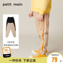 trousers PETIT MAIN male 90cm 100cm 110cm 120cm 130cm 140cm Khaki black B lake blue B elegant purple C Warm Beige C army green spring and autumn trousers solar system There are models in the real shooting Casual pants Leather belt middle-waisted Cotton 87.7% polyester 12.3% Winter 2020