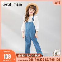 trousers PETIT MAIN female 100cm 110cm 120cm spring and autumn trousers solar system There are models in the real shooting rompers Button / zipper High waist cotton Don't open the crotch Cotton 100% Class A Spring of 2019