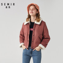 Cotton padded clothes Caramel 6811 Zhonghuang 3446 150/76A/XS 155/80A/S 160/84A/M 165/88A/L Winter of 2019 Semir / SEMA routine Long sleeves routine zipper commute other routine Straight cylinder Solid color Simplicity 13-068080053 Pocket zipper 96% and above cotton other 18-24 years old Cotton 100%