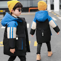 Cotton padded jacket male No detachable cap other Other / other Color matching Hoodie red, color matching Hoodie blue The recommended height is about 105cm for Size 110, 115cm for Size 120, 125cm for Size 130, 135cm for size 140, 145cm for size 150 and 155cm for size 160 thickening Zipper shirt