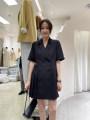 Dress Summer 2021 Apricot, black Average size