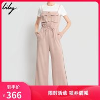 Jumpsuit / pants 96% and above trousers polyester fiber High waist commute 902 light orange 150/76A/XS,155/80A/S,170/92A/XL,165/88A/L,160/84A/M Thin money Summer 2020 Wide leg pants 120209C7902902 Lily / Lily zipper Same model in shopping mall (sold online and offline)