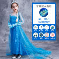 Dress female No season princess Long sleeves other other Pleats Class B Spring of 2019 2 years old, 3 years old, 4 years old, 5 years old, 6 years old, 7 years old, 8 years old, 9 years old, 10 years old, 12 years old, 13 years old, 14 years old Chinese Mainland