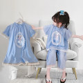 Home suit Yeah 100cm,110cm,120cm,130cm,140cm Blue, lake blue, blue, light yellow summer female Three, four, five, six, seven, eight Home cotton Class B 20109-20111