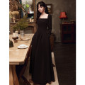 Dress / evening wear Weddings, adulthood parties, company annual meetings, daily appointments XS S M L XL XXL Korean version longuette middle-waisted Winter 2020 Fall to the ground One shoulder zipper 18-25 years old Long sleeves Embroidery Solid color Beautiful outline routine Other 100% other