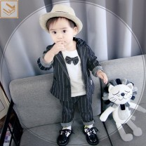 suit Other / other currency spring and autumn Britain Long sleeve + pants 3 pieces routine No model A button nothing stripe cotton children birthday other Chinese Mainland Zhejiang Province Wenzhou City