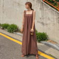 Casual pants brown S M L XL Summer 2020 trousers Jumpsuit Natural waist commute routine 18-24 years old 51% (inclusive) - 70% (inclusive) Parsley Korean version pocket hemp Flax 55% cotton 45% Pure e-commerce (online only)
