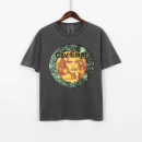 T-shirt Youth fashion Dark grey, Khaki routine S,M,L,XL Tagkita / she and others Short sleeve Crew neck easy Other leisure summer youth routine tide Cotton wool 2021 Geometric pattern printing cotton Geometric pattern No iron treatment Non brand More than 95%