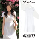 Dress Summer 2020 white S,M,L,XL Mid length dress singleton  Short sleeve commute V-neck High waist Solid color A-line skirt 18-24 years old Korean version Lotus leaf edge 81% (inclusive) - 90% (inclusive) other