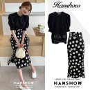 Fashion suit Summer 2020 S,M,L,XL Black top, black skirt, white top, purple skirt 18-25 years old Other / other