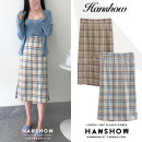 skirt Autumn of 2019 S,M,L,XL Apricot blue, khaki coffee Mid length dress commute High waist A-line skirt lattice Type A 18-24 years old 51% (inclusive) - 70% (inclusive) other Other / other zipper Korean version