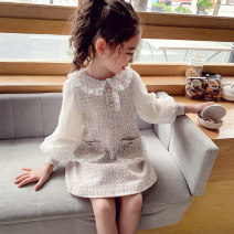 Dress Apricot female Mimihello 90cm, 100cm, 110cm, 120cm, 130cm, 140cm, 150cm, 160cm, m (recommended weight for adults is less than 105kg), l (recommended weight for adults is less than 120kg) Other 100% spring and autumn Korean version Long sleeves other other A-line skirt THQ20621 Class B