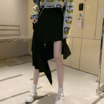 skirt Autumn 2020 S M black Middle-skirt commute High waist Irregular Solid color Type A 18-24 years old SY-2296-1 More than 95% Looking for Jie polyester fiber Asymmetry Korean version Polyester 97% polyurethane elastic fiber (spandex) 3% Pure e-commerce (online only)