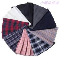 skirt Winter of 2018 Short skirt commute High waist Pleated skirt lattice Type A 18-24 years old LS-1583