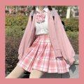 skirt Autumn of 2019 Xs, s, m, l, XL, bow tie Skirt length is 42cm, skirt length is 46cm, flat angle bow tie, rabbit ear bow tie, single layer rabbit ear bow tie Short skirt Pleated skirt