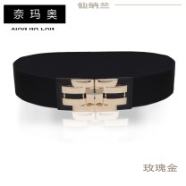Belt / belt / chain top layer leather Rose Gold Classic YaHei warm tips: it is recommended to take the size less than the actual waist circumference warm tips: s size 63cm M size 68cm L size 73cm XL SIZE 80cm XXL size 87cm female Waistband Versatile Single loop Middle aged youth Double buckle 5cm yes