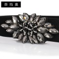 Belt / belt / chain other White crystal yellow crystal grey crystal female Waistband grace Single loop Youth, middle age and old age Smooth button Diamond inlay soft surface 6cm alloy Inlaid Beaded elastic flowers Namao FM-1-08 1cm Spring and summer 2011 no
