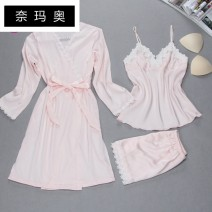 Nightdress Namao Red grey purple pink Navy 160(M) 165(L) 170(XL) 175(XXL) sexy camisole pajamas summer cj175 Autumn of 2018 Mulberry silk 100% Pure e-commerce (online only) Other 100.00%
