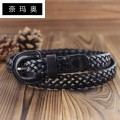 Belt / belt / chain top layer leather Black red orange female belt leisure time Single loop Middle aged youth Pin buckle Leather Wrap soft surface 2.4cm alloy Namao 100cm Spring and summer 2011