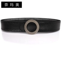 Belt / belt / chain top layer leather Brown Black female belt Versatile Single loop Youth, middle age and old age Smooth button Round buckle Glossy surface 5cm alloy Namao 1cm Spring and summer 2011