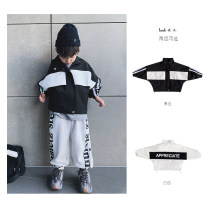 Plain coat Yoehaul / youyou male 80cm,90cm,100cm,110cm,120cm,130cm,140cm White, black spring and autumn Korean version Zipper shirt There are models in the real shooting routine nothing other Cotton blended fabric other Cotton 90% other 10%