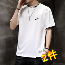T-shirt Youth fashion Nike pure thin Short sleeve Crew neck easy daily summer 2130 Cotton 100% teenagers routine tide Cotton wool cloth 2021 Solid color cotton Brand logo Non iron treatment Fashion brand M,L,XL,2XL,3XL,4XL