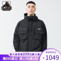 Jacket X-LARGE Youth fashion Black black blue S M L XL routine easy Other leisure Polyamide fiber (nylon) 100% Long sleeves Wear out Hood tide youth routine Zipper placket Winter 2020 More than two bags) Same model in shopping mall (sold online and offline)
