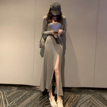 Fashion suit Summer 2021 Average size Grey cardigan, grey skirt, nude cardigan, nude skirt 18-25 years old 51% (inclusive) - 70% (inclusive)