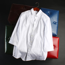 shirt Youth fashion Others S,M,L,XL white Thin money Pointed collar (regular) three quarter sleeve standard Other leisure summer AB182S1004BA
