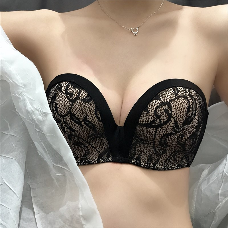 Bras White black 70A 70B 75A 75B 80A 80B Strapless Rear three row buckle Wireless  AB cup is upper thin and lower thick mold cup, c cup is thin mold cup T-type Other / other Developmental students (7-18 years old) Gather together It is a medium thick cup