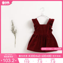 Dress Berry red [201230] yellow [91212] berry red [pre sale] yellow [pre sale] female Marc&Janie 73/18M 80/24M 90/3T 100/4T 110/5T 120/6T 130/8T Cotton 100% spring and autumn Europe and America Strapless skirt Solid color Pure cotton (100% cotton content) Strapless skirt TQ91212 Class A Autumn 2020